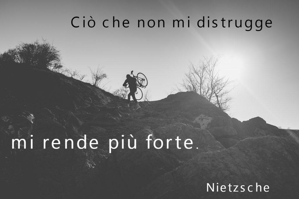 Ciò che non mi distrugge mi rende più forte. Nietzsche