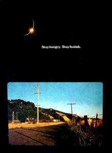 """L'ultimo numero di """"The Whole Earth Catalog"""" a cui fa riferimento Steve Jobs nel suo celebre discorso"""