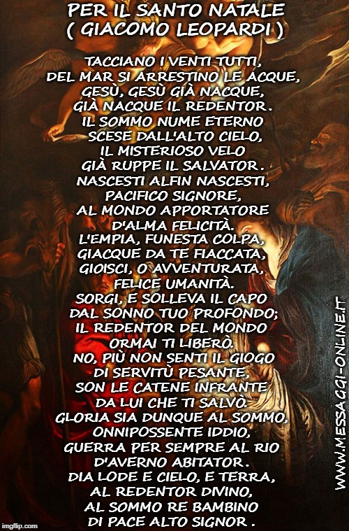 Per il Santo Natale ( Giacomo Leopardi ).