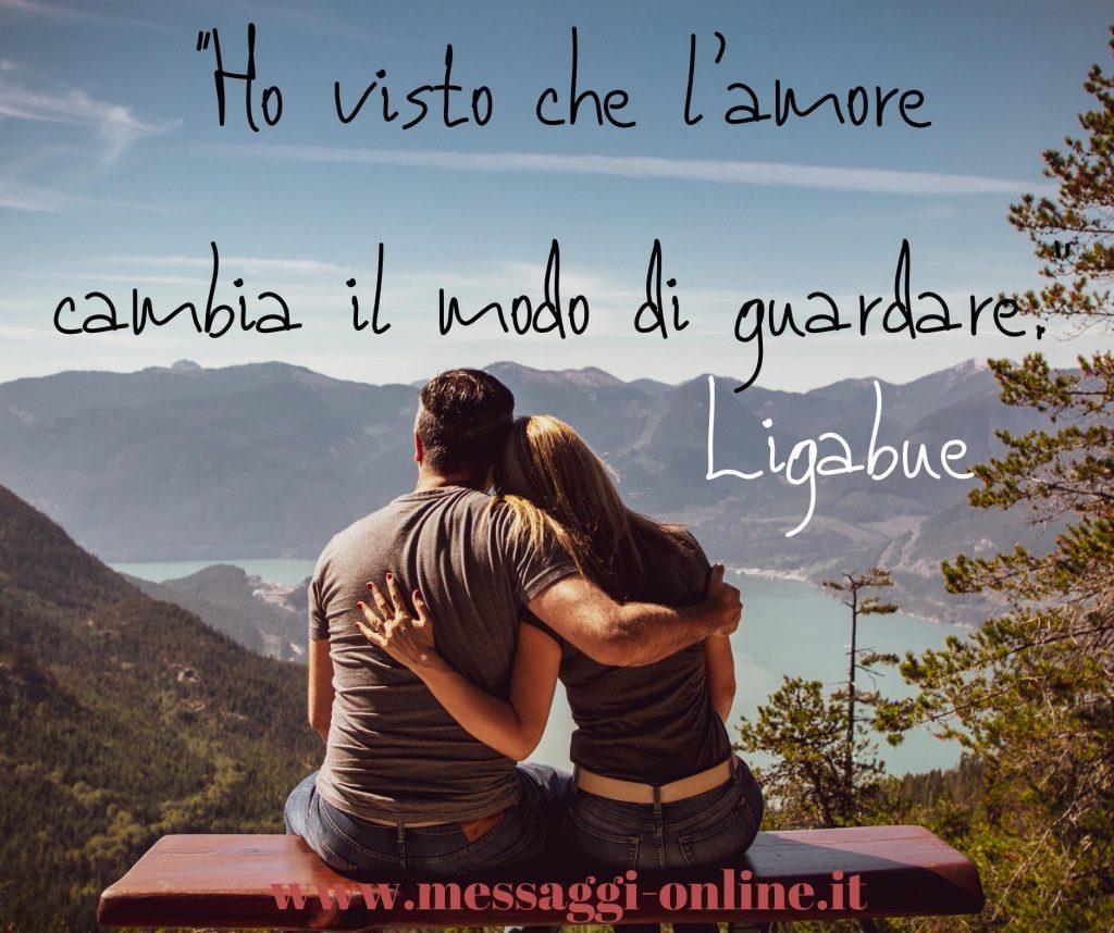 """Luciano Ligabue:""""Ho visto che l'amore cambia il modo di guardare""""."""