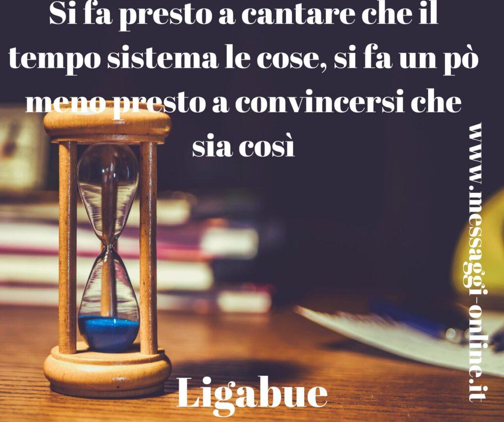 """Luciano Ligabue: """"Si fa presto a cantare che il tempo sistema le cose, si fa un pò meno presto a convincersi che sia così"""""""