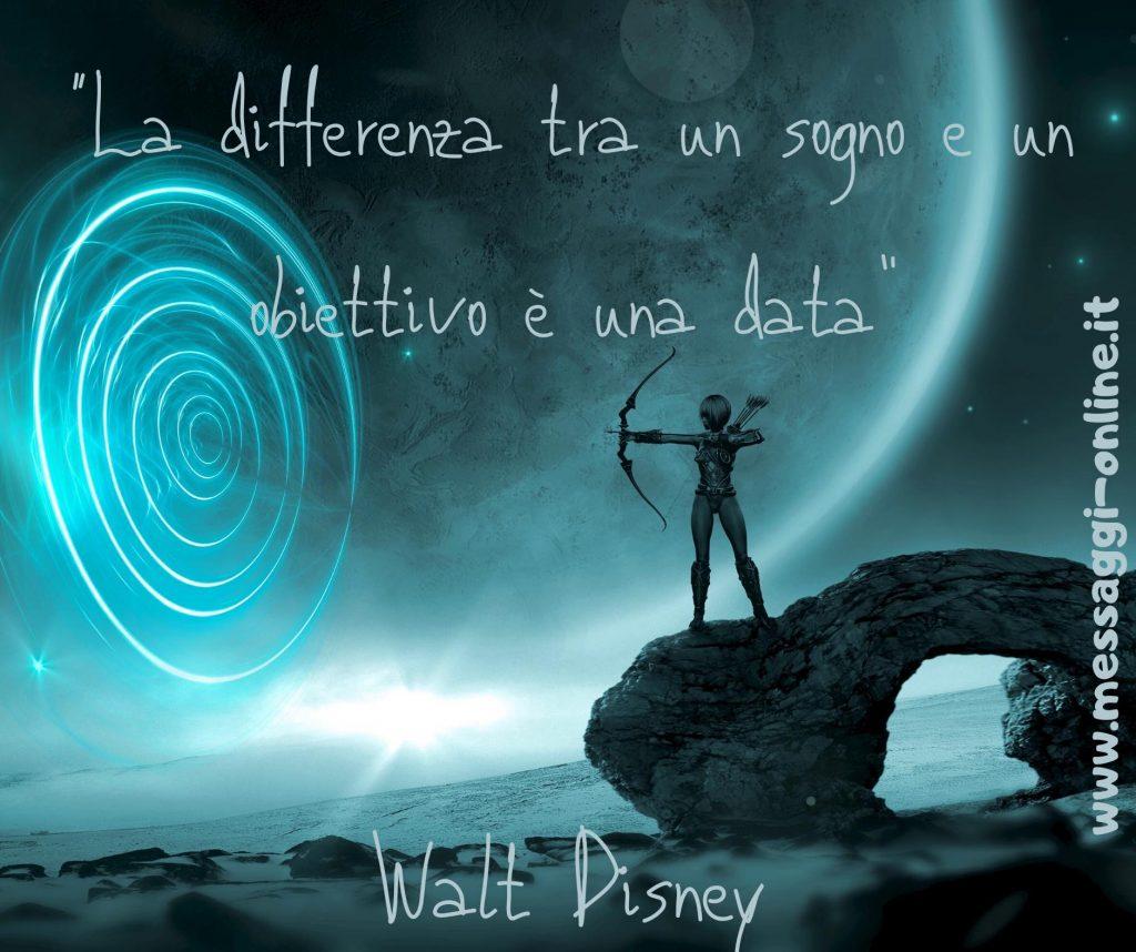 La differenza tra un sogno e un obiettivo è una data. (Walt Disney)