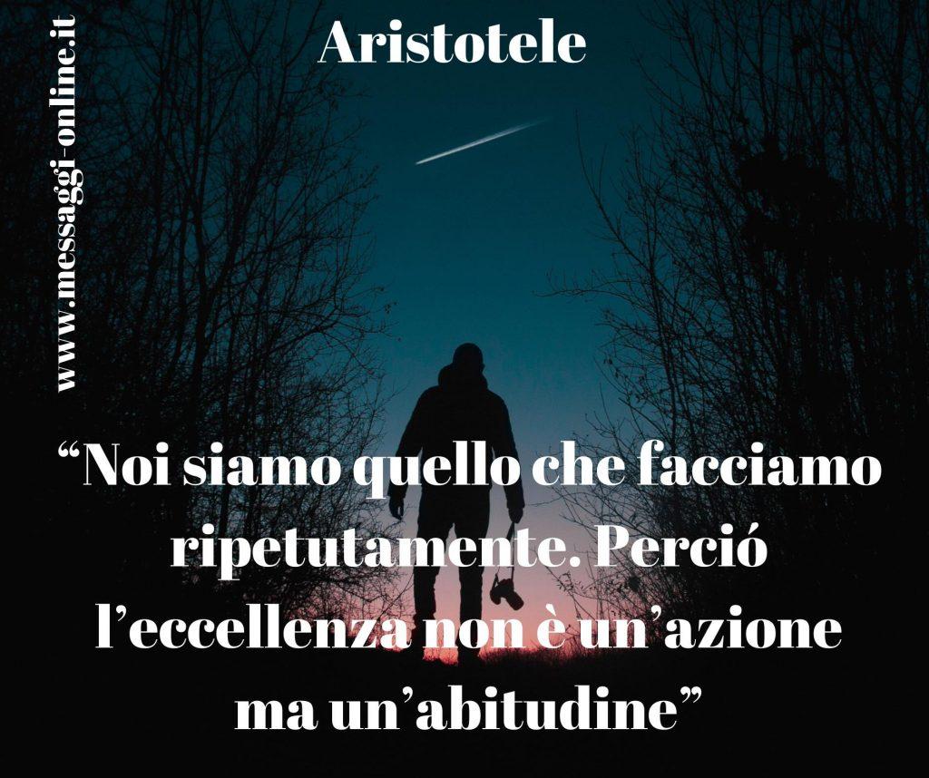 """""""Noi siamo quello che facciamo ripetutamente. Perciò l'eccellenza non è un'azione ma un'abitudine"""" (Aristotele)"""