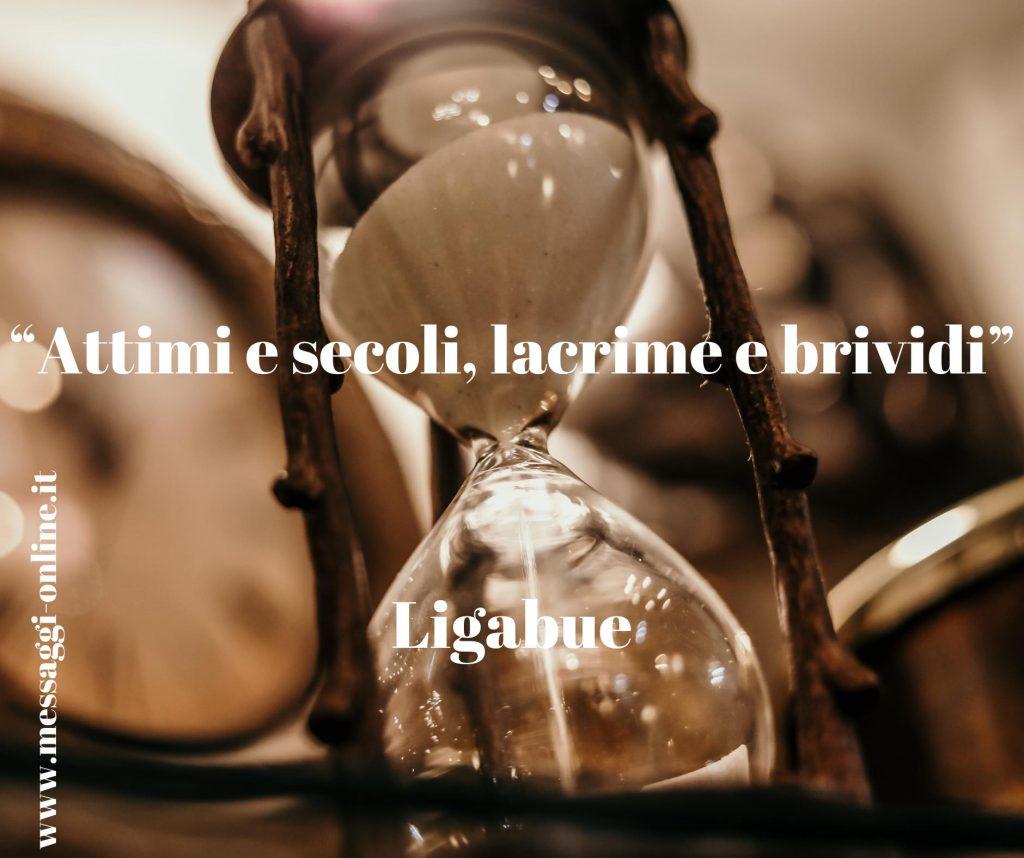 """Luciano Ligabue: """"Attimi e secoli, lacrime e brividi""""."""