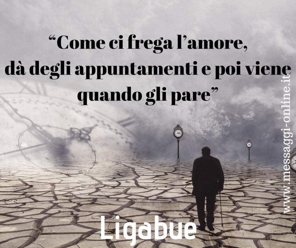 """Luciano Liganue: """"Come ci frega l'amore, dà degli appuntamenti e poi viene quando gli pare""""."""