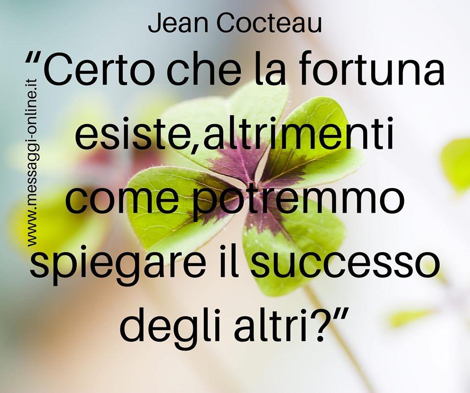 Certo che la fortuna esiste, altrimenti come potremmo spiegare il successo degli altri? (Jean Cocteau)