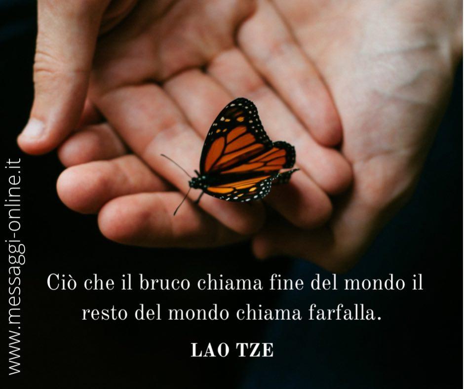 Ciò che il bruco chiama fine del mondo il resto del mondo chiama farfalla. Lao Tze